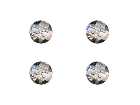 Domed Diamond Effect Buttons - Clear - 020-Deramores