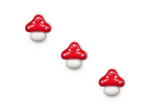 Mushroom Shaped Buttons - Red/White - 932