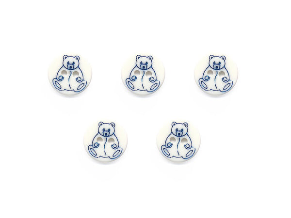 Round Novelty Buttons - Bear - 935