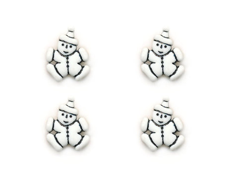 Clown Shaped Buttons - White - 952-Deramores