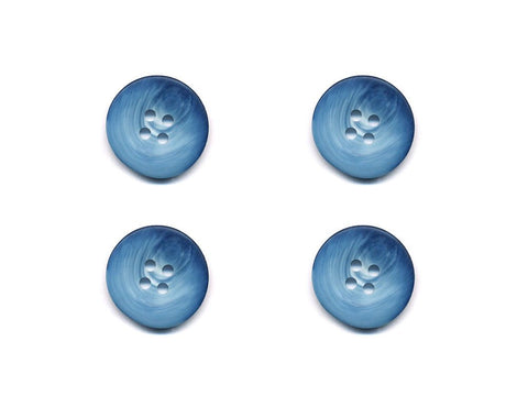 Round Shell Effect Buttons - Blue - 955