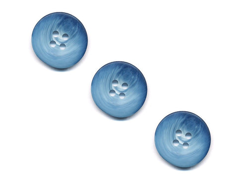 Round Shell Effect Buttons - Blue - 956