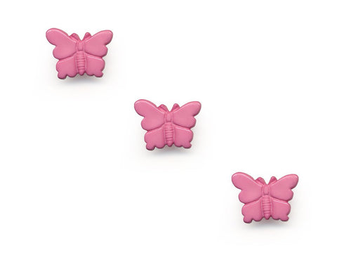 Butterfly Shaped Buttons - Pink - 957-Deramores