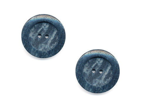 Round Stone Effect Buttons - Grey - 962
