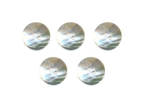 Round Shell Buttons - Silver - 984