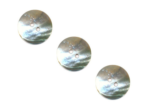 Round Shell Buttons - Silver - 985