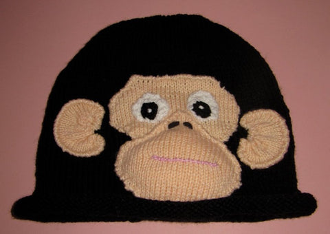 Cheeky Chimp Roll Brim Beanie by MadMonkeyKnits (435) - Digital Version-Deramores
