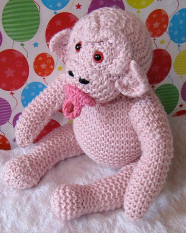 Cherry Baby Chimpanzee by MadMonkeyKnits (12) - Digital Version-Deramores