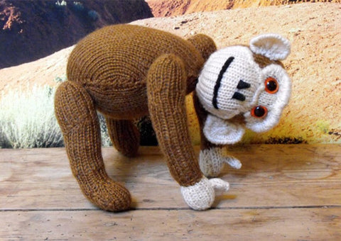 Chester the Chimpanzee by MadMonkeyKnits (2) - Digital Version-Deramores