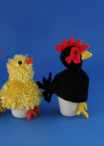 Chicken Family Egg Cosy Set by MadMonkeyKnits (453) - Digital Version-Deramores