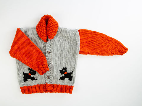 Childs Chunky Dog Jacket by Fran Morgan in Deramores Studio Chunky
