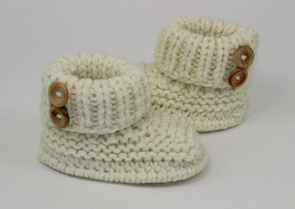 Baby Chunky 2 Button Booties by MadMonkeyKnits (01056) - Digital Version-Deramores