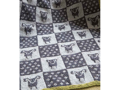 Counting Sheep Throw by Martin Storey in Rowan Felted Tweed DK
