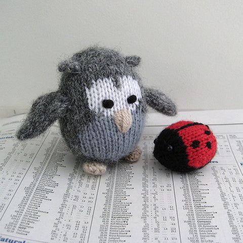 Cricklewood Owl and Jubilee Ladybird in DK by Amanda Berry - Digital Version-Deramores