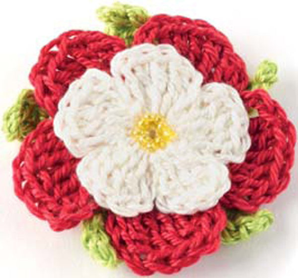 Crocheted Flowers Tudor Rose - Digital Version-Deramores