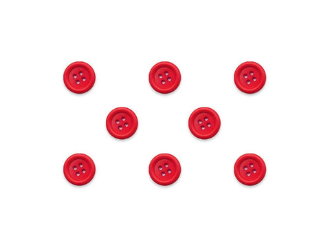 Round Ring Edge Button - Red - 20L