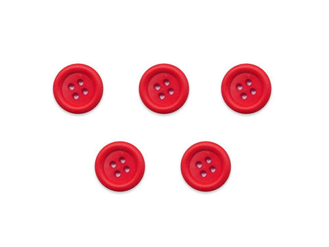 Round Ring Edge Button - Red - 28L