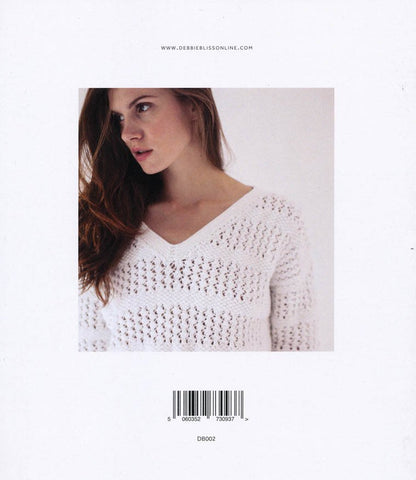 Lace and Moss Stitch Sweater in Debbie Bliss Cotton DK (DB002)-Deramores