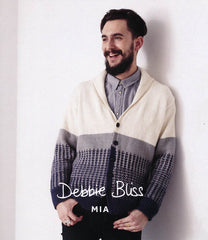 Shawl Collared Cardigan in Debbie Bliss Mia (DB016)