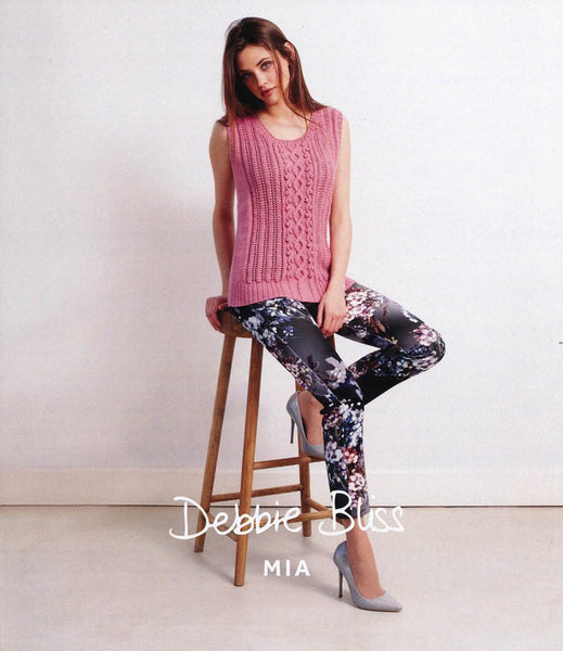 Bobble and Wave Tank in Debbie Bliss Mia (DB018)-Deramores