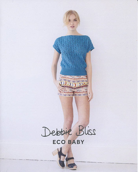 Lace and Knot Top in Debbie Bliss Eco Baby (DB071)-Deramores