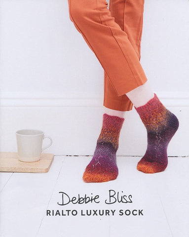 Zig Zag Lace Socks in Debbie Bliss Rialto Luxury Sock (DB082)