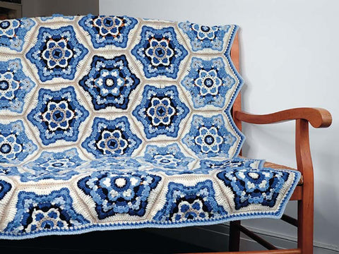 Delft Crochet Blanket by Janie Crow in Stylecraft