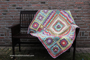 The Demelza Blanket by Catherine Bligh in Scheepjes Stonewashed