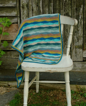 Gentle Waves Blanket by Carmen Heffernan (Large Pack) - Yarn and Pattern