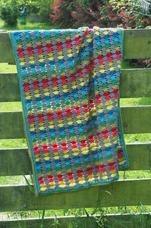 Modern Rainbow Blanket - By Carmen Heffernan - Pattern Only