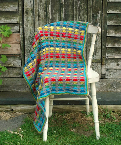 Large Modern Rainbow Blanket - Stylecraft Special DK - Yarn and Pattern