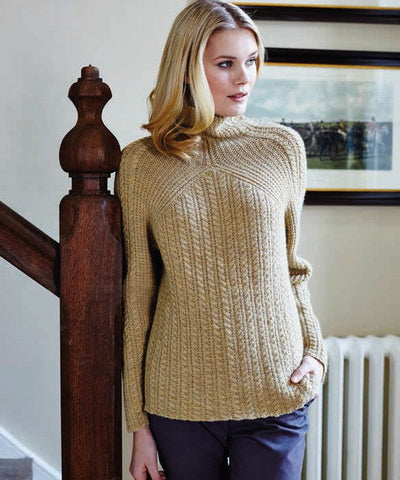 Cable and Rib Sweater by Debbie Bliss - Digital Version-Deramores