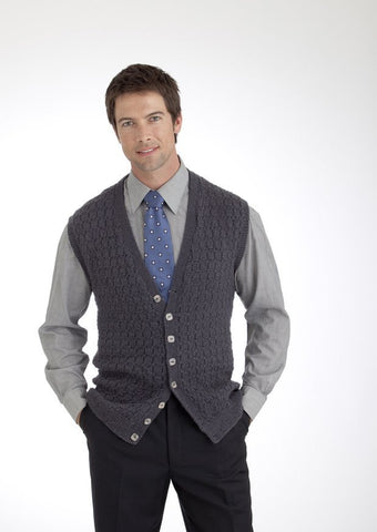 Mens Vest and Waistcoat in Diploma Gold 4 Ply (3747)
