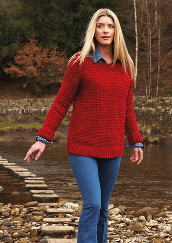 Trellis Stitch Sweater by Debbie Bliss - Digital Version