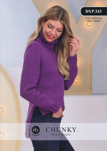 Sweater With Side Vents in DY Choice Chunky With Wool (DYP243)