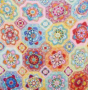 Persian Tiles Eastern Jewels Crochet Kit And Pattern In