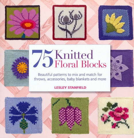 75 Knitted Floral Blocks