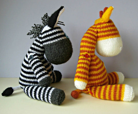 Gerry Giraffe and Ziggy Zebra in DK by Amanda Berry - Digital Version-Deramores