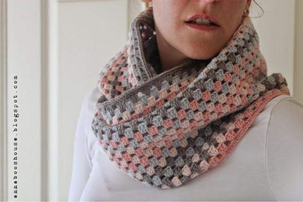 Granny Stripe Cowl By Sarah Shrimpton Yarn And Pattern