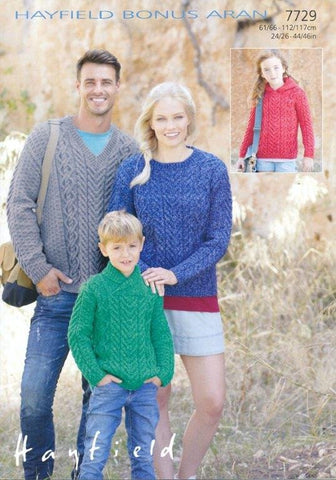 Sweaters in Hayfield Bonus Aran (7729)