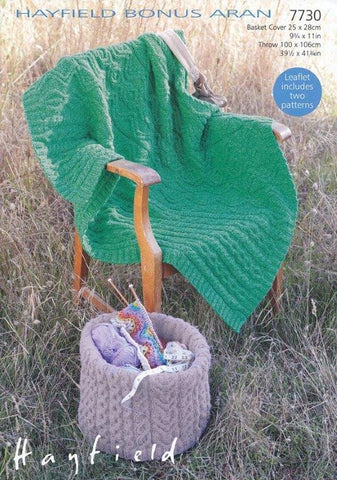 Basket Cover and Throw in Hayfield Bonus Aran (7730)-Deramores