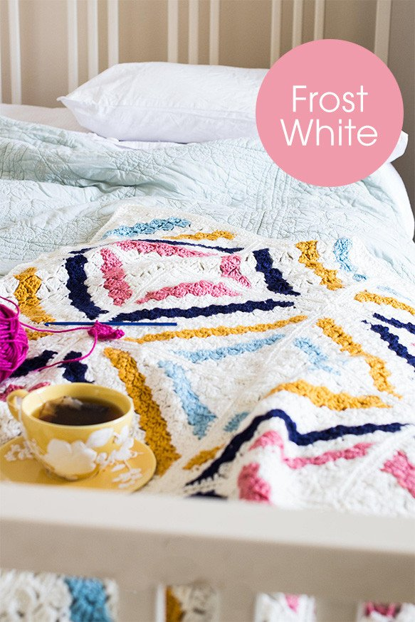 Deramores Cedar River Blanket Colour Pack – Large Throw (Frost)