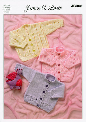 Cardigans in James C. Brett Magi-Knit DK, Baby DK and Supreme Baby DK (JB005)-Deramores