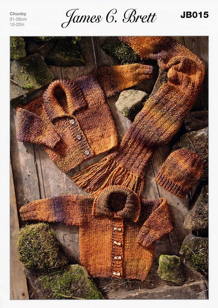 Cardigans Hat And Scarf In James C Brett Marble Chunky