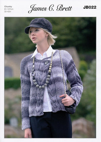 Cardigan in James C. Brett Marble Chunky (JB022)-Deramores