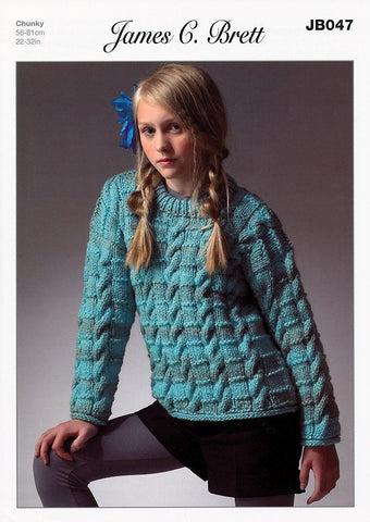 Sweater in James C. Brett Marble Chunky (JB047)