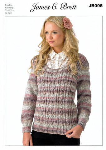 Sweater in James C. Brett Marble DK (JB095)