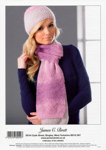 Hat, Scarf and Wrap in James C. Brett DK (JB122)-Deramores