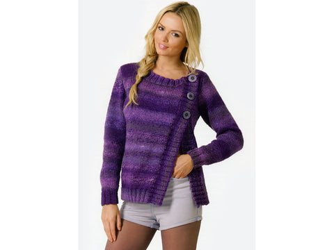 Cardigan in James C. Brett Marble Chunky (JB129)