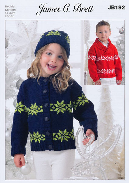Jacket, Sweater and Hat in James C Brett Top Value DK (JB192)-Deramores